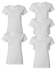 Gildan G500L Women Heavy Cotton 5.3 Oz. Missy Fit T-Shirt 5-Pack at GotApparel