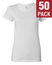 Gildan G500L Women Heavy Cotton 5.3 Oz. Missy Fit T-Shirt 50-Pack at GotApparel
