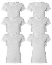 Gildan G500L Women Heavy Cotton 5.3 Oz. Missy Fit T-Shirt 6-Pack at GotApparel