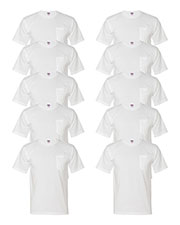 Bayside 5070 Men Short-Sleeve Tee With Pocket 10-Pack at GotApparel