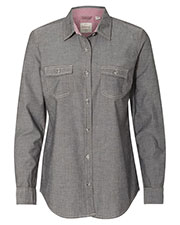 Weatherproof W154885 Women Vintage Chambray Long Sleeve Shirt at GotApparel