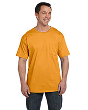 Hanes 5190P Men 6.1 Oz. Beefy-Tee  With Pocket at GotApparel