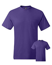 Hanes 5190P Men 6.1 Oz. Beefy-Tee  With Pocket 2-Pack at GotApparel