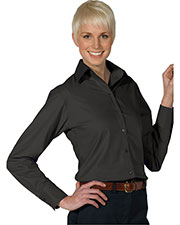 Edwards 5295 Women Poplin Long-Sleeve Blouse at GotApparel