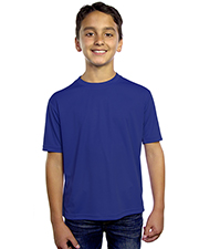 Blue Generation BG5302 Boys YOUTH SOLID WICKING T  -  BLACK LARGE SOLID at GotApparel