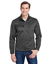Dri Duck 5316 Men Atlas Bonded Melange Sweater Fleece Jacket at GotApparel