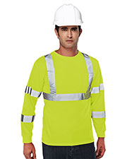 Tri-Mountain 533 Men 100% Polyester Safety Shirt at GotApparel