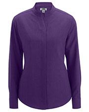 Edwards 5398 Women Stand-Up Collar Shirt at GotApparel