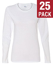 Gildan G540L Women Heavy Cotton 5.3 Oz. Missy Fit Long-Sleeve T-Shirt 25-Pack at GotApparel