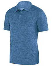 Augusta 5408 Men Intensity Black Heather Sport Shirt at GotApparel