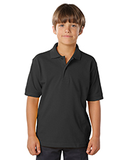 Blue Generation BG5500 Boys YOUTH SOFT TOUCH PIQUE POLO  -  BLACK LARGE SOLID at GotApparel