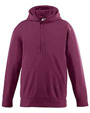 Augusta 5505 Men Wicking Long Sleeve Warmup Fleece Hood Sweatshirt at GotApparel