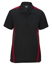 Edwards 5513ED Women Snag-Proof Color Block Short Sleeve Polo at GotApparel