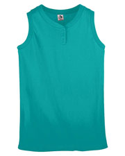 Augusta 551 Girls Sleeveless 2-Button Softball Jersey at GotApparel
