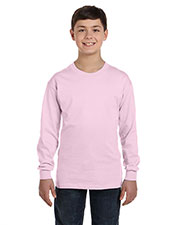 Hanes 5546 Boys 6.1 Oz. Tagless Comfort Soft Long-Sleeve T-Shirt at GotApparel