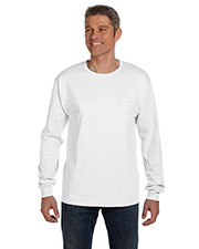 Hanes 5596 Men 6.1 Oz. Tagless  Comfort Soft  Long-Sleeve Pocket T-Shirt at GotApparel
