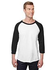 Jerzees 560RR Adult 5.2 oz Premium Blend Ring-Spun Raglan Baseball T-Shirt at GotApparel