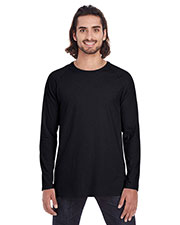 Anvil 5628 Men Lightweight Long & Lean Raglan Sleeve T-Shirt at GotApparel