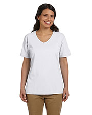 Hanes 5780 Women 5.2 Oz. Comfort Soft V-Neck Cotton T-Shirt at GotApparel