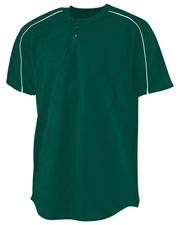 Augusta 586 Boys Wicking 2-Button Baseball Jersey at GotApparel