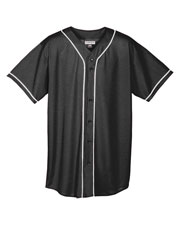 Augusta 593 Men Wicking Mesh Braided Trim Baseball Jersey at GotApparel