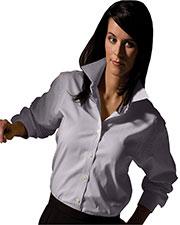 Edwards 5975 Women Long-Sleeve Pinpoint Oxford Shirt at GotApparel