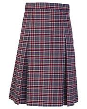 5P5343A Girls Plaid Kick Pleat Skirt at GotApparel