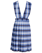 5PC4621A Girls Plaid V-Front Knife Pleat Jumper at GotApparel