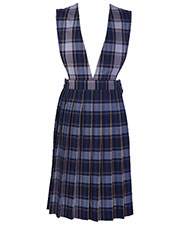 5PC4622A Girls plaid V-front knife pleat Jumper at GotApparel