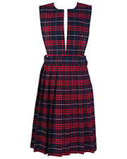 5PC4722A Girl Plaid Slit Front Knife Pleat Jumper at GotApparel
