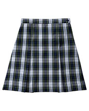 5PC5343A Girls Plus Plaid Kick Pleat Skirt at GotApparel
