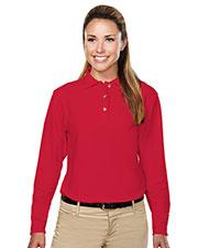 Tri-Mountain 602 Women Victory Pique Long-Sleeve Golf Shirt at GotApparel