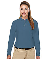 Tri-Mountain 602 Women Victory Pique Long-Sleeve Golf Shirt at GotApparel