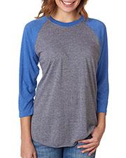 Next Level 6051 Unisex Tri-Blend 3/4-Sleeve Raglan T-Shirt at GotApparel