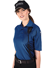 Blue Generation BG6053 Women LADIES IL-50 TACTICAL POLO  -  BLACK 2 EXTRA LARGE SOLID at GotApparel