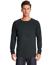 Next Level 6072 Men Triblend Long-Sleeve Henley at GotApparel