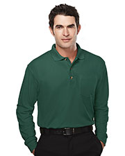Tri-Mountain 609 Men Spartan Pique Pocketed Golf Shirt at GotApparel
