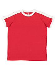 LAT 6132 Boys 4.5 oz Soccer Ringer Fine Jersey T-Shirt at GotApparel