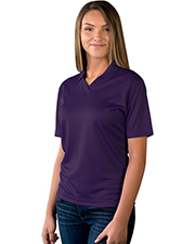 Blue Generation BG6219 Women LADIES SOLID WICKING V-NECK  -  BLACK 2 EXTRA LARGE SOLID at GotApparel