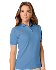 Blue Generation BG6224 Women LADIES WICKING SOLID SNAG RESIST POLO   -  BLACK 2 EXTRA LARGE SOLID at GotApparel