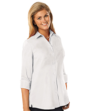 Blue Generation BG6261 Women LADIES 3/4 SLEEVE EASY CARE POPLIN SWING BLOUSE/MATCHING BUTTONS   -  BERRY 2 EXTRA LARGE SOLID at GotApparel