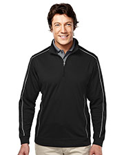 Tri-Mountain Gold 627 Men Durham 1/4-Zip Long-Sleeve Knit Shirt at GotApparel