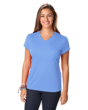 Blue Generation BG6302 Women LADIES SOLID WICKING T  -  BLACK 2 EXTRA LARGE SOLID at GotApparel