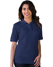 Blue Generation BG6401 Women LADIES S/S VALUE PIQUE POLO  -  BLACK 2 EXTRA LARGE SOLID at GotApparel