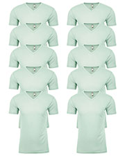 Next Level 6440 Men Premium Fitted Sueded V-Neck Tee 10-Pack at GotApparel