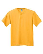 Augusta 644 Boys 6 oz. 2-Button Baseball Short Sleeve Jersey at GotApparel