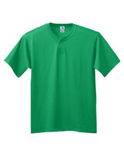 Augusta 644 Boys 6 oz. 2-Button Baseball Short Sleeve Jersey at GotApparel