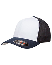 Yupoong 6511W Flexfit Trucker Mesh with White Front Panels Cap at GotApparel