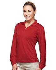 TM Performance 656 Women Ultracool Pique Y-Neck Golf Shirt at GotApparel