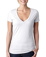 Next Level 6640 Women CVC Deep V at GotApparel